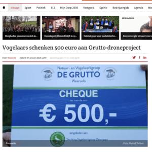 Cheque € 500